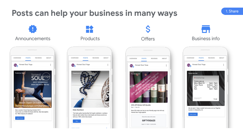 Google My Business Offers Content